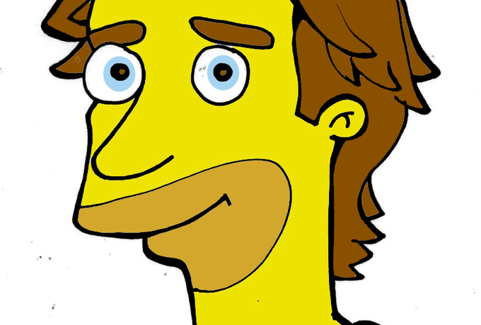 draw a Simpson style portrait for any person or pet