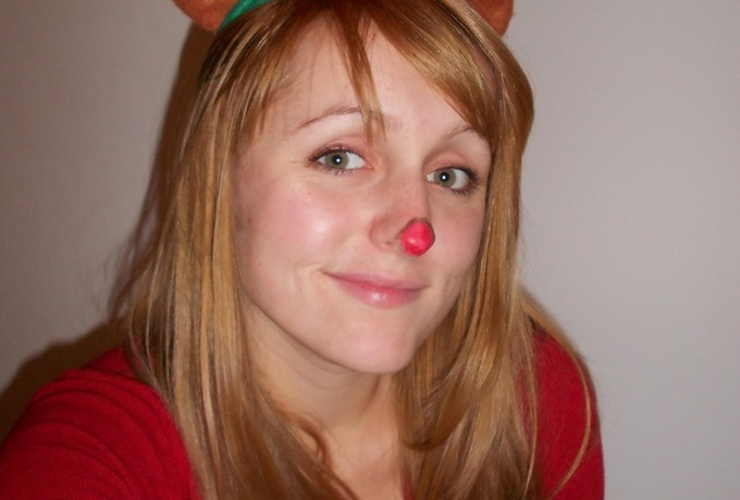 make a custom video as the Rudolph the rednosed reindeer