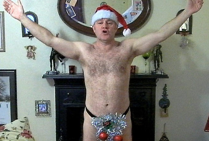 sing a Christmas song in a sparkly thong to the person of your choice and send you the video file