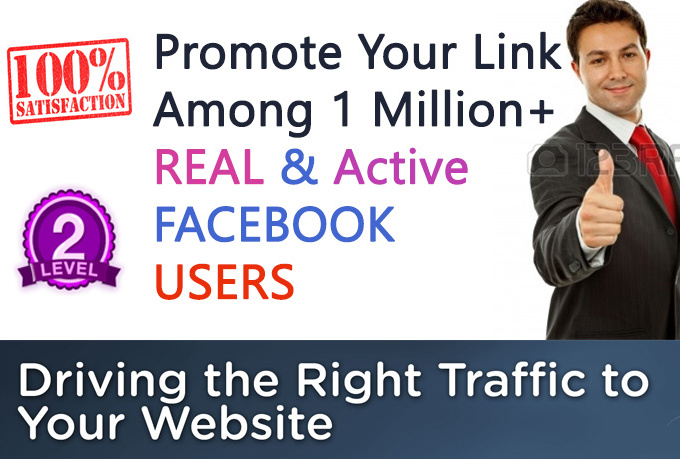 promote your link worldwide with 1 Million Real People in facebook