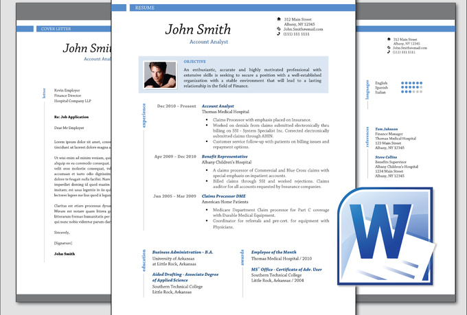 Gut bekannt Resume Template In Word 2010. Resume Templates Microsoft Word 2010  AL86