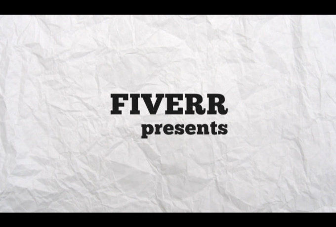 create this KILLER typography text intro video