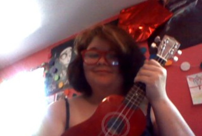 write and play a song on my ukulele for you