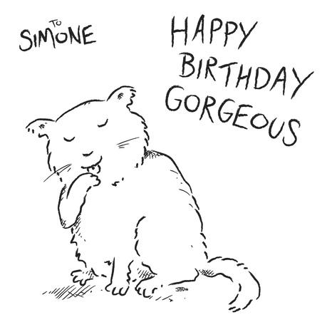 Cartoon Birthday Card Drawing Draw a Birthday Card in my
