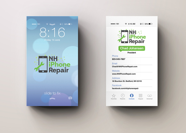design iPhone ios7 style business card fiverr