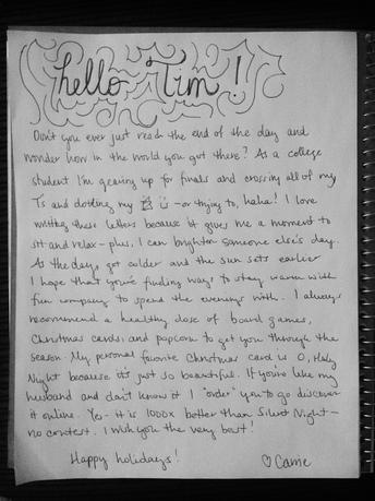 Snailmail You A Personal Handwritten Fun Letter