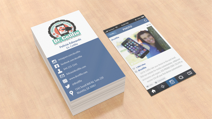 convert your INSTAGRAM into real business card fiverr