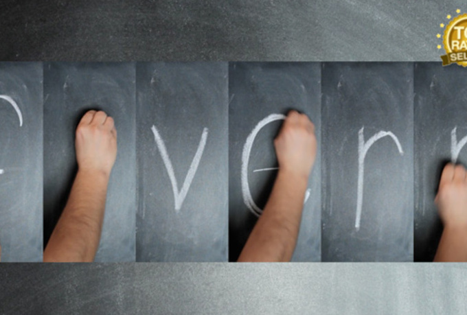 write your message with chalk in this compositing video