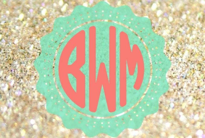create 5 monogrammed backgrounds for your desktop or phone