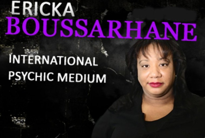 offer a one question psychic reading by Ericka Boussarhane is author, radio personality, public speaker, and professional psychic medium