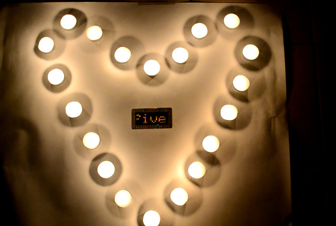 create a Valentine custom candle video message