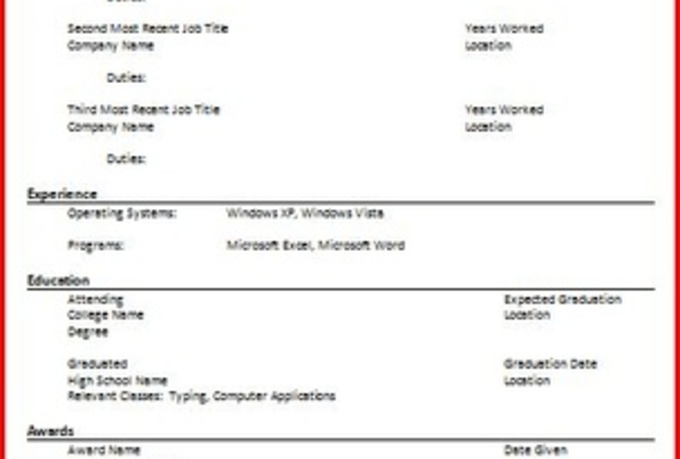 Resume Letter Format] Simple Resume Office Templates, Epic ...