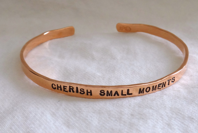 create a custom personalized copper bangle
