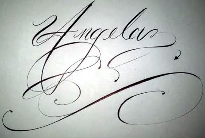 Write Your Name Business Name In Cursive Fiverr