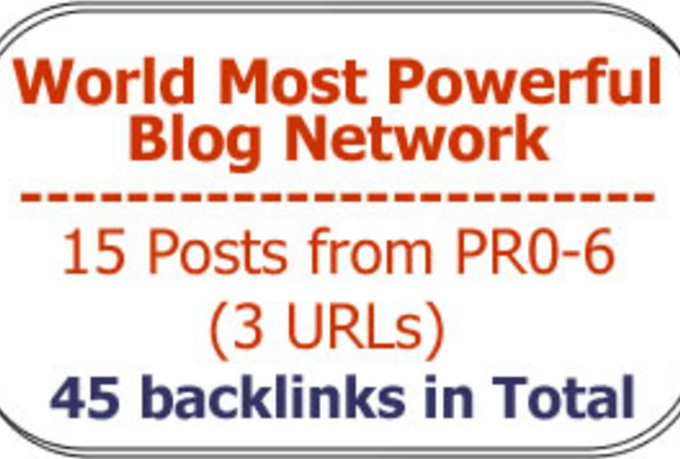 improve your Serp with 30 Backlinks from 10 posts tapping Authority Link Network